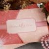 29-0041 การ์ดแต่งงาน VIPสามพับ สีชมพู