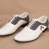 พร้อมส่ง รองเท้าผู้ชาย สีขาว รองเท้าหนัง แบบผู้เชือก หัวแหลม รองเท้าลำลอง เสริมส้น ใส่ทำงาน ใส่เที่ยว ใส่ไปงาน