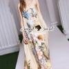 Seoul Secret Say's... Vintage Chiffon Maxi Dress