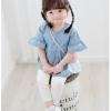 เสื้อเด็กผู้หญิง เสื้อยีนส์ แขนบาน พร้อมกระเป๋าสะพาย Size 11