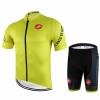 ชุดปั่นจักรยานแขนสั้นลายทีม CASTELLI N66 กางเกงเป้าเจล 20D