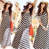 Sevy Arrow Stripes Maxi Dress