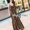(ส่งฟรี EMS) Lady Ribbon's Made Lady Dita Sexy Leopard Printed Maxi Dress