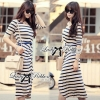 Lady Ribbon's Made Jersey Stripe Slip Dress