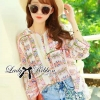 Lady Ribbon's Made Lady Hayden Lisa Colourful Printed Basic Blouse