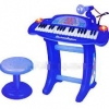 เปียโนสำหรับเด็ก 36-Keys Piano Toy Playset Bule Color พร้อมเก้าอี้นั่ง