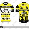 BOOM CYCLING : BCRT33 เสื้อจักรยานทีเชิ๊ต เหลืองดำขาว คอกลม This one