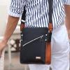 พร้อมส่ง สีดำ กระเป๋าสะพายข้าง สะพายไหล่เท่ห์ หนังPU ใส่ ipad ได้