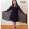 เดรสคลุมชีฟอง Chiffon Cover Dress (ดำ)