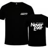 เสื้อยืด GOT7 Never Ever สีดำ