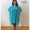 เดรสคลุมชีฟอง Chiffon Cover Dress (เขียวอมฟ้า)