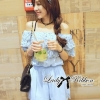 Lady Ribbon's Made Lady Kristen Off-Shoulder Layered Lace Jumpsuit