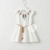 เสื้อตัวยาว สีขาว สไตล์โบฮีเมียน size 3-7 ปี