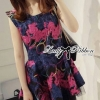 Lady Colourful Embroidered Mini Dress