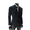 พร้อมส่ง สีดำ เสื้อสูทแฟชั่นผู้ชาย สีดำ กระดุมหน้า 2 เม็ด ออกแบบเก๋ สุดเท่ห์ ไม่เหมือนกัน เสื้อสูทไปงาน หรือใส่ทำงานได้