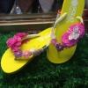 รองเท้าแตะแฟชั่นแต่งดอกไม้น่ารัก