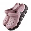 รองเท้า CROCS รุ่น DUET SPORT CLOG สีชมพูอ่อนพื้นน้ำตาล