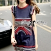 Lady Ribbon's Made Lady Kim Tribal Embroidered Cotton Dress