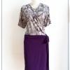 Love Dress Size 44 สีม่วง