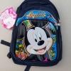 กระเป๋าเป้สะพายหลัง Mickey Mouse ใบใหญ่สีน้ำเงิน มี 3 ช่องซิป