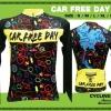 BOOM CYCLING :BCRCFD เสื้อจักรยานเจอซี่ Car Free Day
