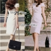 Lady Ribbon's Made Lady Lara High Classy See-Through Lace Dress in White