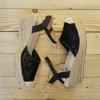 รองเท้าแฟชั่นทรงสวมรัดข้อผ้าลูกไม้น่ารักน้ำหนักเบา
