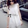 Lady Ribbon's Made Lady Blaire Pretty Sweet Floral White Lace Ensemble Set
