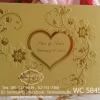 WC5845 การ์ดสีทอง ขนาด 5.5x7.5 นิ้ว แบบ 3พับ (การ์ด+ซองครีม)