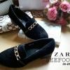 รองเท้าสวย ZARA WOMEN คัชชู หัวแหลมแต่งอะไหล่ทอง