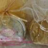 PB020กระเป๋าซิบรูปผีเสื้อเงินทอง ถุงผ้า +ป้าย