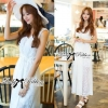 Lady Ribbon's Made Lady Ribbon White Floral Embellish Lace Maxi