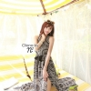 Cliona made' Lucy Charming Grey Summer Beach Long Dress
