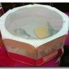 เต็นท์ 8 เหลี่ยมพับได้ สีชมพู-ขาว ขนาด 50*100 ซม.