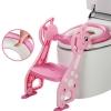 บันไดฝารองนั่งชักโครก สำหรับเด็ก (#สีชมพูสีเดียว) สินค้า Baby Step Toilet Seat Giraffe