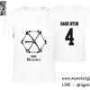 เสื้อยืด EXO Monster - BAEKHYUN สีขาว