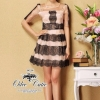 Organza lace twisted mini dress