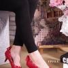 คัทชูส้นสูงสไตล์ valentino ทำจาก หนังแก้วสวยมาก