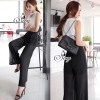 Sevy Two Pieces Of Beehive Sleeveless Blouse With Pants Suit Sets