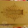 WC5851 การ์ดสีทอง ขนาด 5.5x7.5 นิ้ว แบบ 3พับ (การ์ด+ซองครีม)