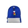 กระเป๋าเป้เด็กกันน้ำได้มีพวงกุญแจตุ๊กตาหมีตัวเล็ก(สีน้ำเงิน)