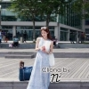 Cliona Made,Light Floral Blue Summer Maxi Dress, Partsu