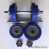 เซทดัมเบลหุ้มขอบยางสีน้ำเงิน (แผ่นรูขนาด 1.2 นิ้ว หรือ 3 ซม.)