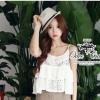 Romantic lace crochet blouse with smootie pants