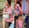 (ส่งฟรี EMS) Lady Ribbon's Made Soda Pretty Pink Floral Dress