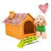 บ้านสุนัข ไซส์ JUMBO สีน้ำตาล พร้อมส่ง