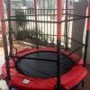 แทรมโพลีน Trampoline jump มีตาข่าย สำหรับเด็ก - สีแดง *** จัดส่งฟรีขนส่งเอกชนคะ ***