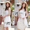 Lady Ribbon's Made Lady Kristy Vintage Classic White Embroidered Dress