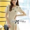 Lady Ribbon's Made Lady Eva Sweet Perfect Embellished Flower Mini Dress