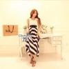 Cliona Made , Gala Lace Stripe Line Dress